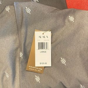 Alala Pants & Jumpsuits - Laurel embroidered tight L silver NWT